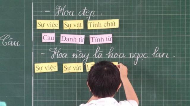 Học sinh lớp 1 trong giờ học tiếng Việt. Ảnh: Hồng Minh