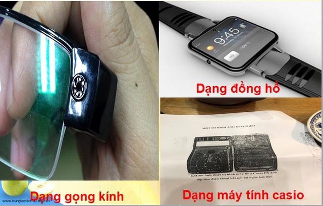 Thiết bị không dây dạng đồng hồ, gọng kính, máy tính casio.