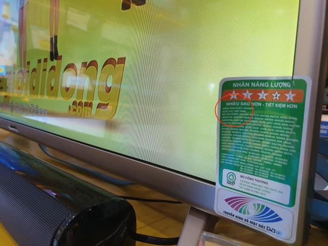 Sản phẩm tivi mang nhãn Asanzo được sản xuất tại Việt Nam, đạt 4 sao tiết kiệm điện.