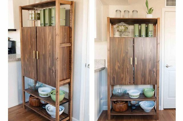 Các tủ lưu trữ trong phòng bếp thường gặp phải vấn đề nan giải đó chính là mùi hôi. Chính vì thế, việc tạo không gian mở cho các kệ là một giải pháp thông minh.