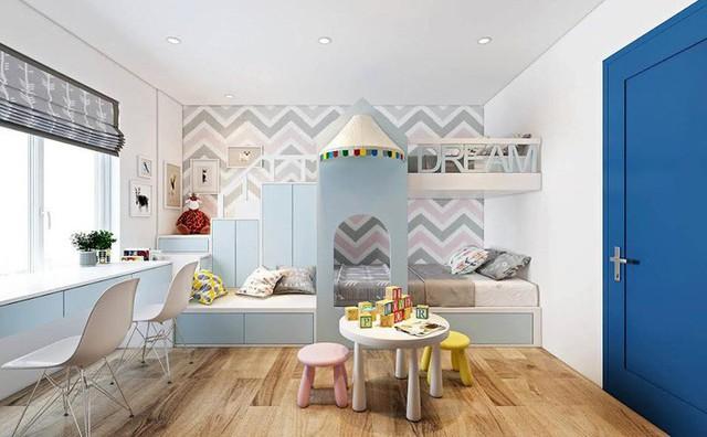 Không gian sinh hoạt chung của gia đình và chỗ chơi cho con.