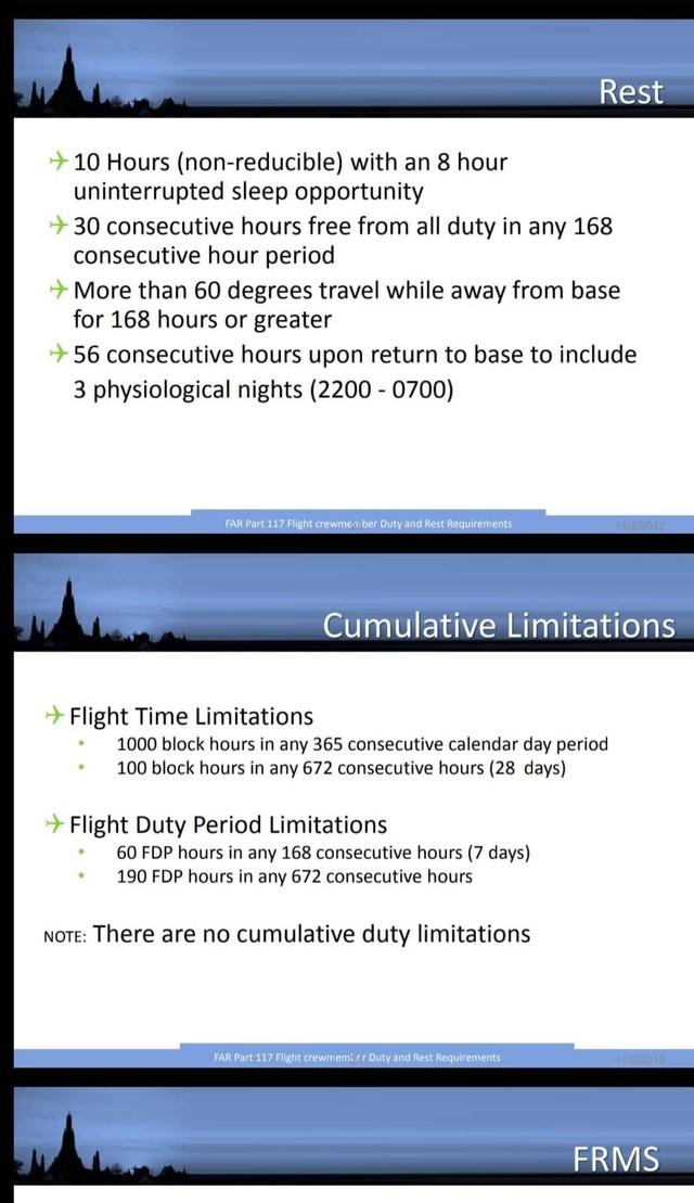 Tổ chức Hàng không Thế giới quy định thời gian bay của từng thành viên tổ bay làm nhiệm vụ trên chuyến bay không vượt quá 100 giờ bay trên 28 ngày