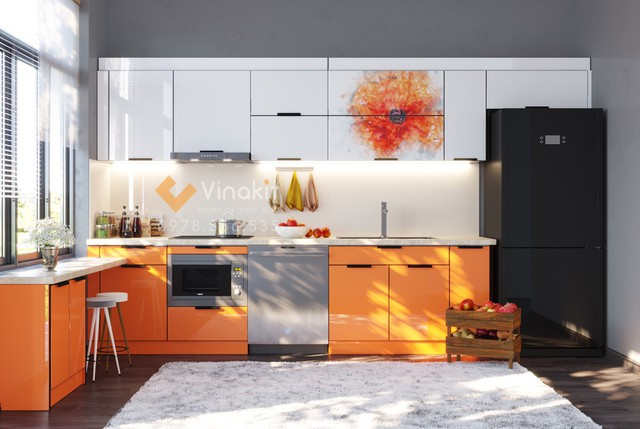 Tủ bếp inox giúp không gian bếp trở nên sống động hơn