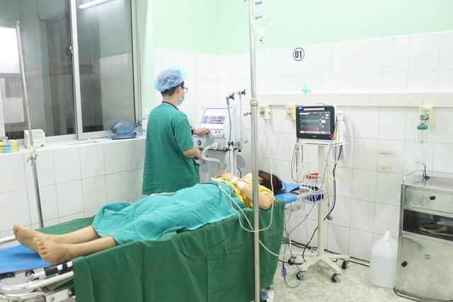 Bệnh nhân đã ổn định sau khi cắt khối chửa ở góc sừng tử cung phải. Ảnh BVCC
