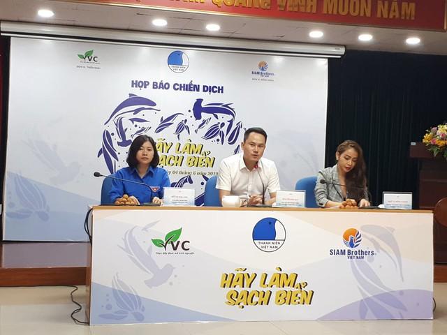 Họp báo hãy làm sạch biển 2019 tổ chức chiều 4/6. Ảnh: Phương Thuận