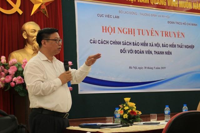 Ông Lê Quang Trung, Phó Cục trưởng Cục việc làm chia sẻ thông tin tại hội nghị. Ảnh: TL