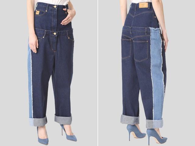 Chiếc quần bò củaNatasha Zinko trông giống như vài chiếc quần với những màu sắc khác nhau được ghép lại. Nó có giá khá đắt, khoảng 695 USD.
