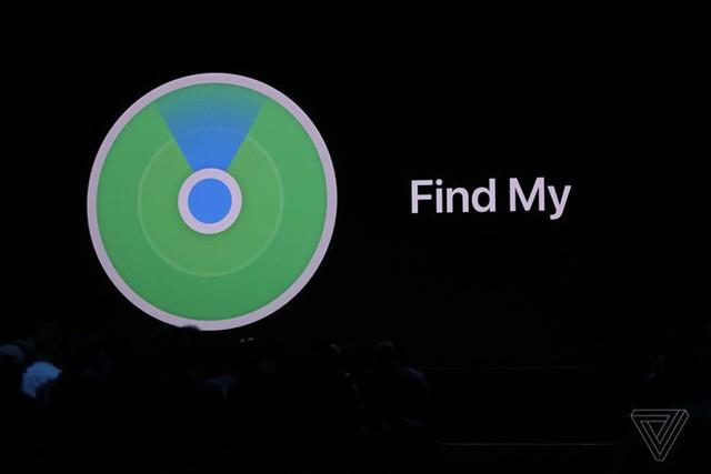 Apple gộp các ứng dụng Find My Phone và Find My Friends lại thành tính năng Find My duy nhất. Ảnh: The Verge.