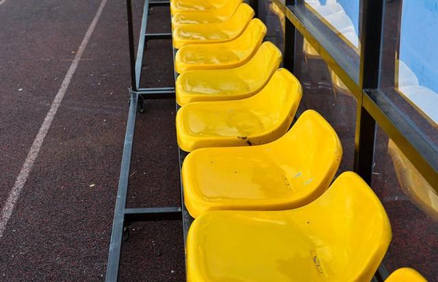 Khu vực ghế bên trong SVĐ cũng hoàn thiện từ nhiều ngày trước.
