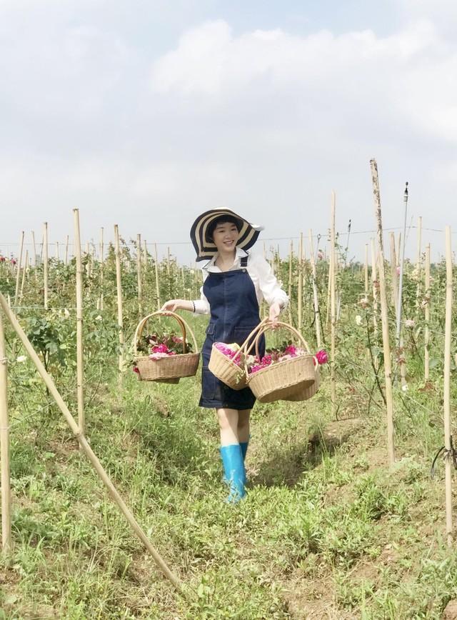 Kim Ngọc cho biết, hoa hồng của vườn hiện nay đã nhận được chứng chỉ VietGap. Toàn bộ hoa được phục vụ việc sản xuất các sản phẩm làm đẹp và trà hoa hồng cho công ty do hai vợ chồng cô sáng lập và điều hành từ năm 2017.