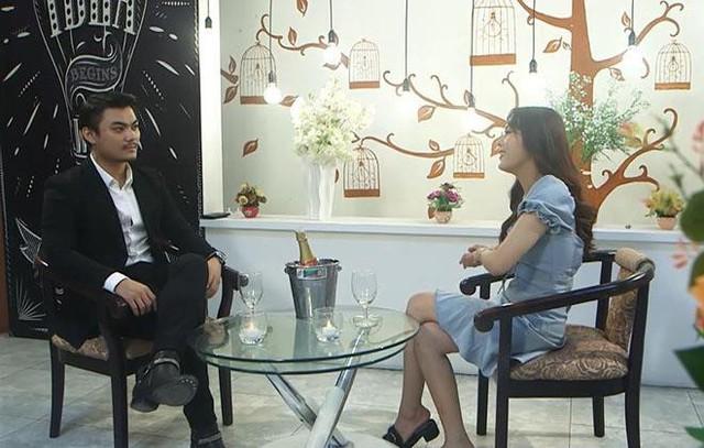 Minh Đức và Ngọc Bình hẹn hò trong chương trình Lựa chọn của trái tim. Ảnh: FB.