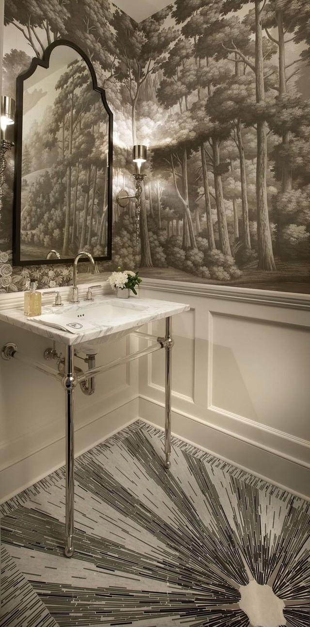 Họa tiết lát sàn cũng được lựa chọn dựa vào chủ đề thiết kế của căn phòng.