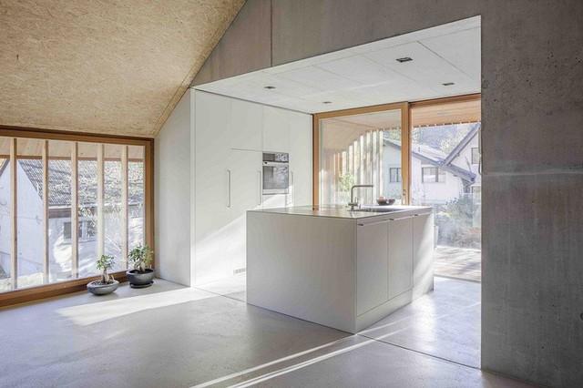 Góc bếp hiện đại được gia chủ mang thật nhiều ánh sáng vào phòng.