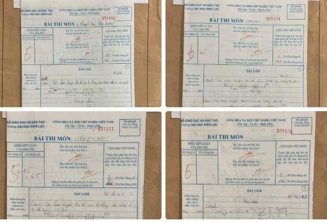 Theo đơn tố cáo, những bài thi này có hình thức đánh dấu bài để được nâng điểm.