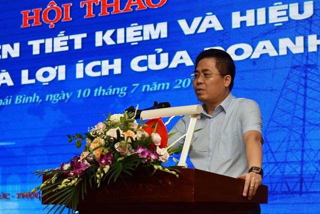 Ông Nguyễn Hoàng Giang - Phó Chủ tịch UBND tỉnh Thái Bình phát biểu tại Hội nghị