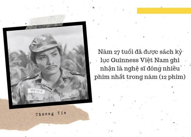 Trong những năm thập niên 1980 – 1990, Thương Tín được biết đến là một tài tử thành công trong lĩnh vực phim ảnh. Anh ghi dấu ấn trong lòng người hâm qua hàng trăm tác phẩm điện ảnh mà nổi tiếng nhất phải kể đến như Ván Bài Lật Ngửa, Săn Bắt Cướp, Biệt Động Sài Gòn, Chiến Trường Chia Nửa Vầng Trăng...