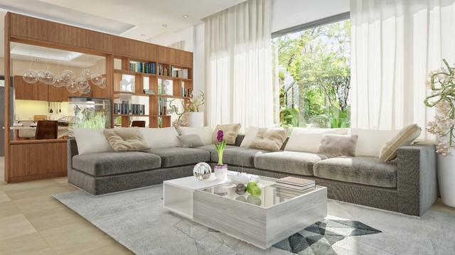 Nội thất phòng khách đặc biệt tinh xảo và sang trọng biệt thự FLC Sầm Sơn