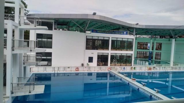 Khu vực bể bơi thuộc Cung văn hóa thanh thiếu nhi tỉnh Quảng Ninh, nơi xảy ra sự việc đuối nước