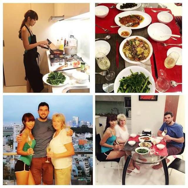 Trang cá nhân của Hà Anh lúc nào cũng tràn ngập hình ảnh hạnh phúc bên người chồng lịch lãm, cùng với đó là các món ngon giàu dinh dưỡng do chính cô trổ tài nấu nướng.