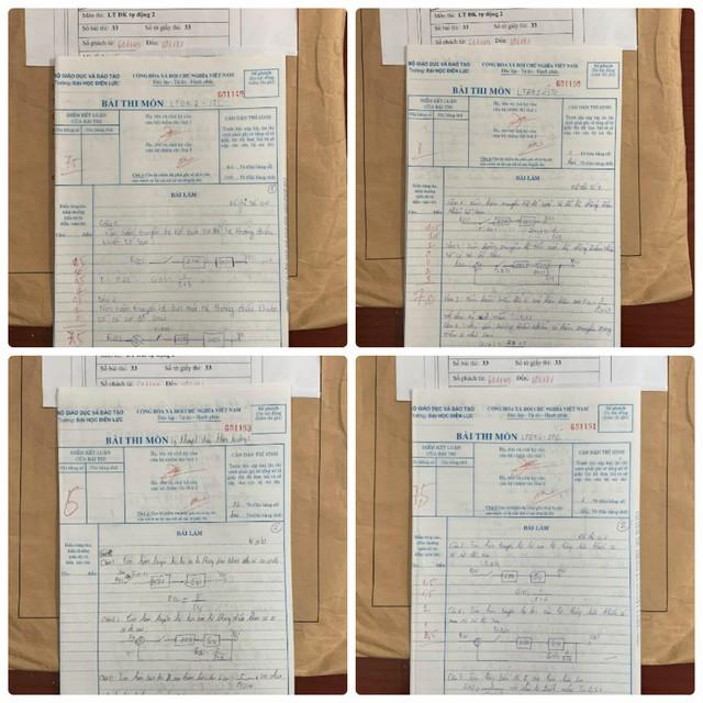 Những bài thi theo đơn tố cáo, nghi vấn có những hình thức đánh dấu bài.