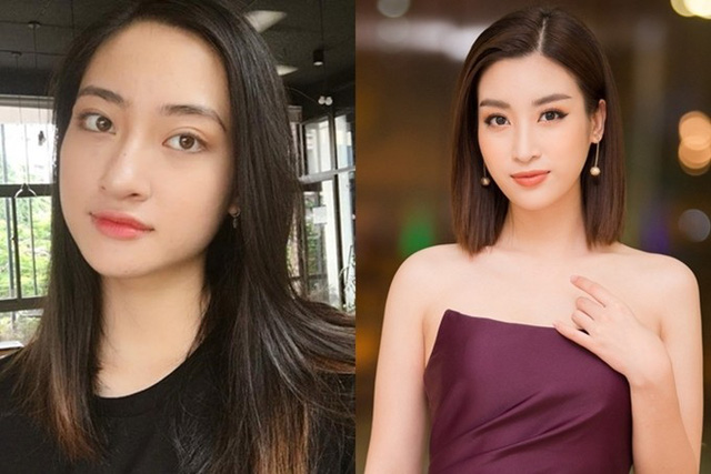 Nổi bật từ vòng chung khảo phía Bắc, Thùy Linh được nhận xét có nhiều nét giống Hoa hậu Đỗ Mỹ Linh (ảnh phải) như gương mặt thanh tú, đôi mắt to tròn. Cả hai còn đều là sinh viên Đại học Ngoại thương Hà Nội.