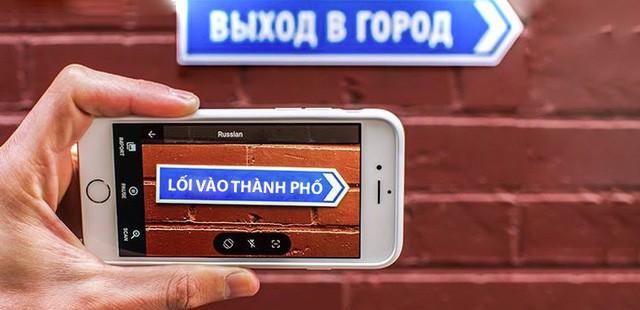 Google Translate đã hỗ trợ dịch trực tiếp tiếng Việt qua camera