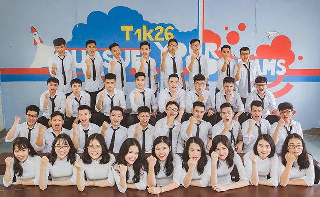 Lớp 12 Toán 1 trường THPT chuyên Hà Tĩnh. Ảnh: Hà Phương