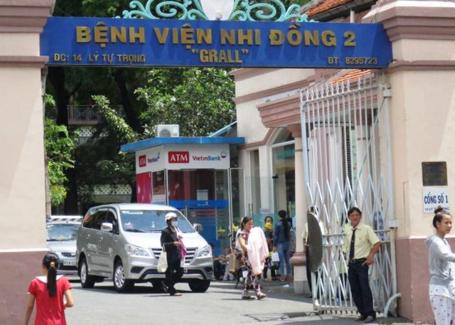 Bệnh viện Nhi Đồng 2 nơi xảy ra sự việc