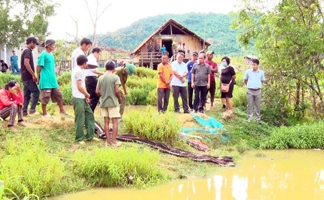 Khu vực bốn đứa trẻ bị đuối nước ở Khánh Hòa. An Phước.