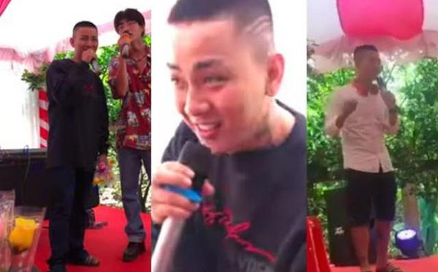 Hình ảnh Hoài Lâm khi hát trong đám cưới một người quen