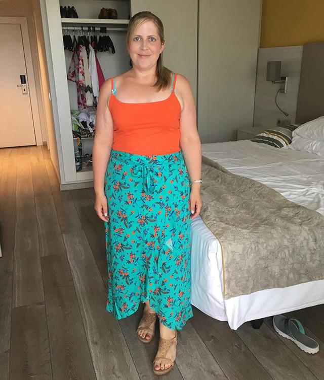 Giảm được 4 kg sau một tuần đã giúp Samantha có niềm tin và động lực để tiếp tục cải thiện vóc dáng.