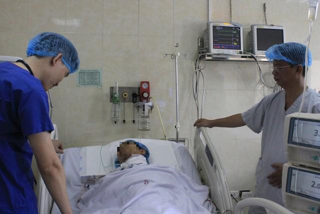 Sau hơn 1 ngày được mổ cấp cứu, bệnh nhân đã ổn định. Ảnh: BVCC