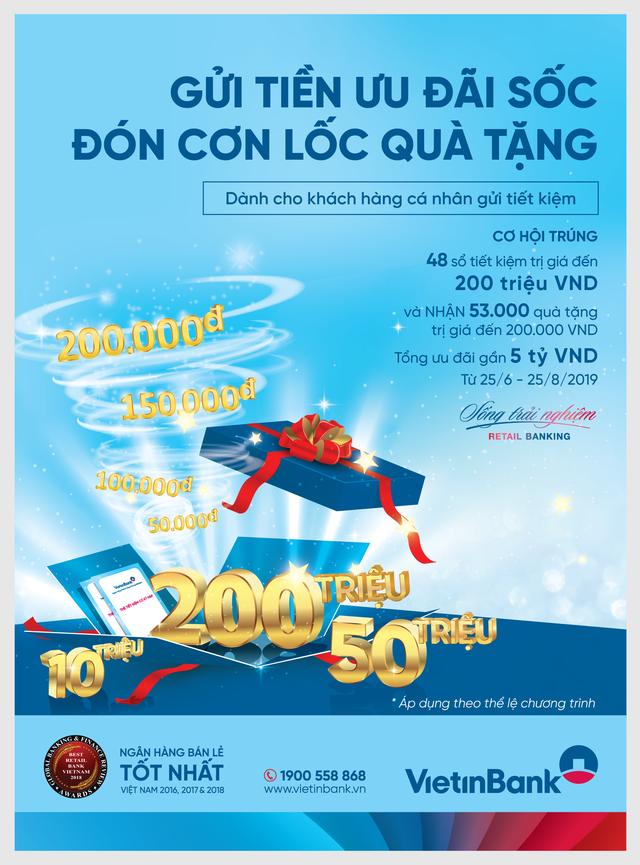 Hàng chục nghìn khách hàng hưởng ưu đãi khi gửi tiền tiết kiệm tại VietinBank - Ảnh 2.