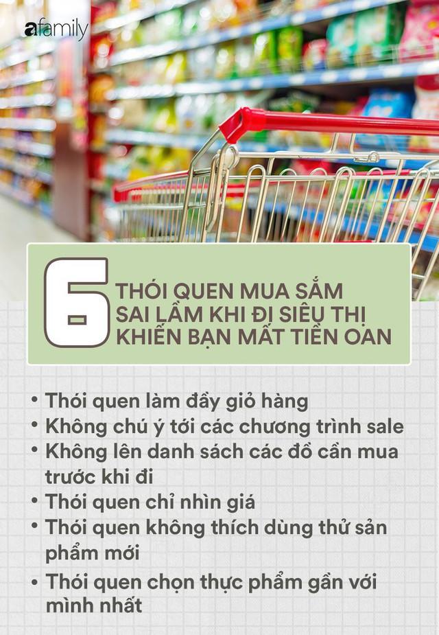 6 thói quen sai lầm khi đi siêu thị khiến ngân quỹ gia đình cứ thế bay đi mà bạn không hề để ý - Ảnh 1.