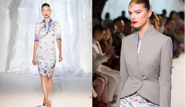 Điểm đặc biệt ở bộ trang phục này chính là hình dáng giống với áo xường xám cách tân, trang phục truyền thống của phụ nữ Trung Hoa. Ảnh: SCMP.
