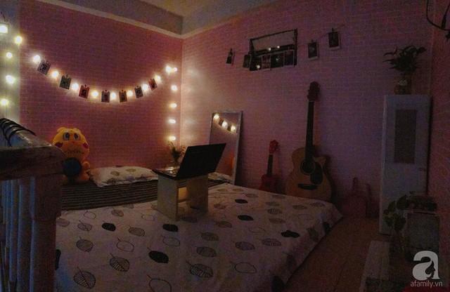 Buổi tối căn phòng thêm lung linh.