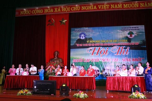 3 đội người cao tuổi của huyện Diễn Châu tham gia cuộc thi.