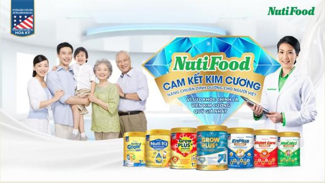 Dòng sản phẩm Kim Cương đáp ứng toàn diện nhu cầu dinh dưỡng của nhiều đối tượng như trẻ em, phụ nữ mang thai, người lớn tuổi, người mắc bệnh tiểu đường, loãng xương…