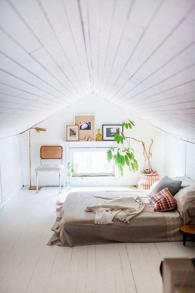 Phòng ngủ gác mái đẹp lịm tim, tại sao không thử? - Ảnh 1.