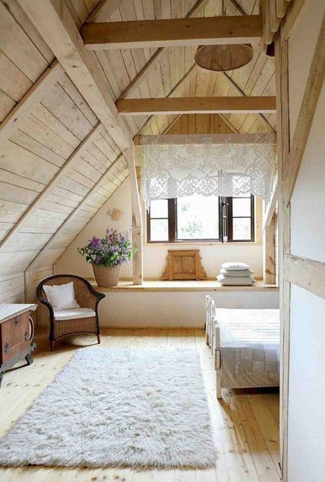 Phòng ngủ gác mái đẹp lịm tim, tại sao không thử? - Ảnh 3.