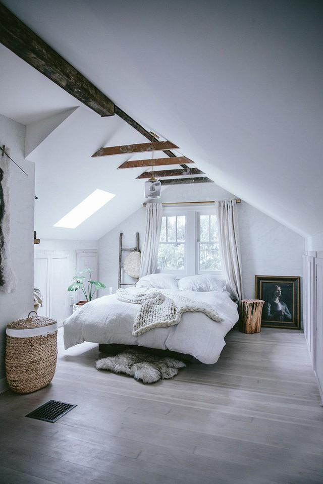 Phòng ngủ gác mái đẹp lịm tim, tại sao không thử? - Ảnh 4.