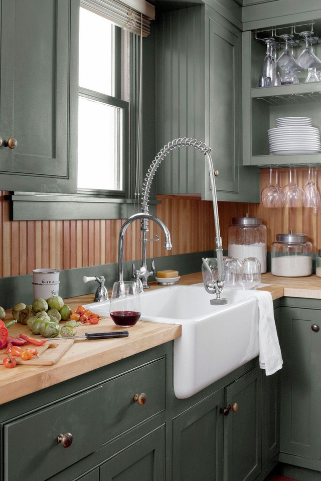 13 thiết kế bếp nhỏ với phong cách Retro khiến bạn không thể không ngắm nhìn - Ảnh 5.
