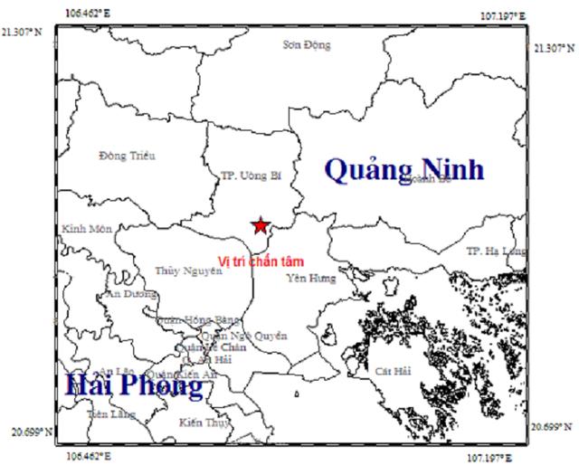Xuất hiện động đất tại Quảng Ninh - Ảnh 1.
