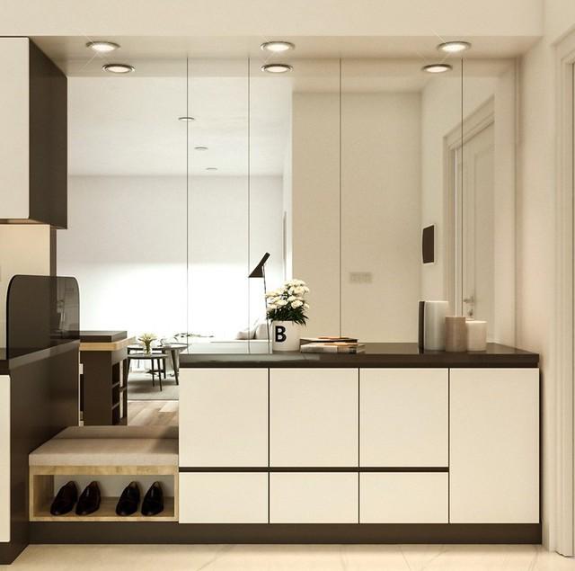 Thiết kế căn hộ 54m² 2 phòng ngủ đẹp hiện đại với tổng chi phí chưa đến 180 triệu đồng - Ảnh 2.