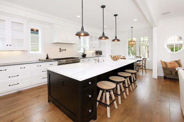 Muốn nhà bếp vừa đẹp vừa sang thì chọn ngay chất liệu đá cẩm thạch - Ảnh 1.
