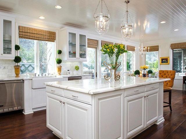 Muốn nhà bếp vừa đẹp vừa sang thì chọn ngay chất liệu đá cẩm thạch - Ảnh 2.