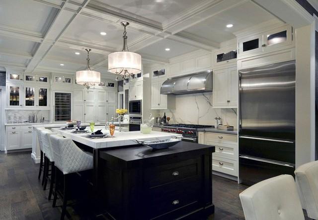 Muốn nhà bếp vừa đẹp vừa sang thì chọn ngay chất liệu đá cẩm thạch - Ảnh 14.