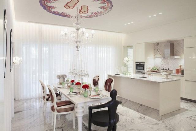 Muốn nhà bếp vừa đẹp vừa sang thì chọn ngay chất liệu đá cẩm thạch - Ảnh 8.