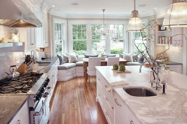Muốn nhà bếp vừa đẹp vừa sang thì chọn ngay chất liệu đá cẩm thạch - Ảnh 9.