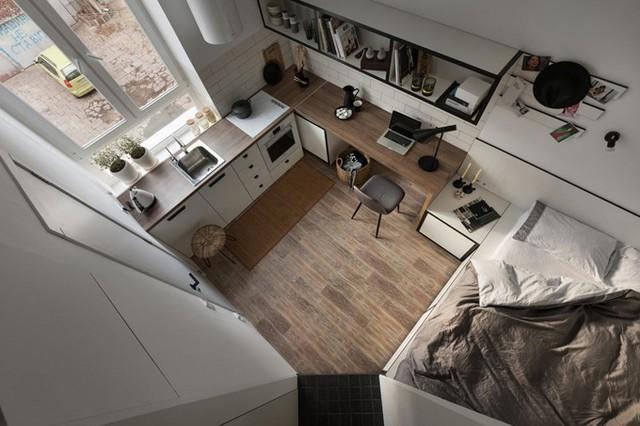 Căn hộ 17 m2 đủ tiện nghi mà vẫn thoáng đẹp khiến nhiều người khâm phục - Ảnh 1.